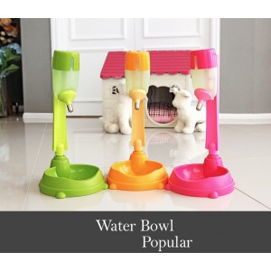 Alpha Dog Series Pet Water Feeder & Food Bowl Set - Orange